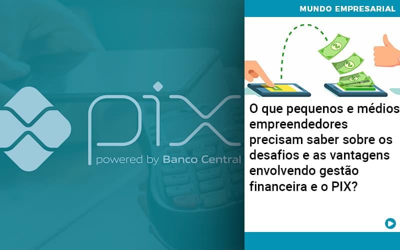 O Que Pequenos E Medios Empreendedores Precisam Saber Sobre Os Desafios E As Vantagens Envolvendo Gestao Financeira E O Pix  - Contabilidade em Nova Iguaçu - RJ | AMR Contabilidade